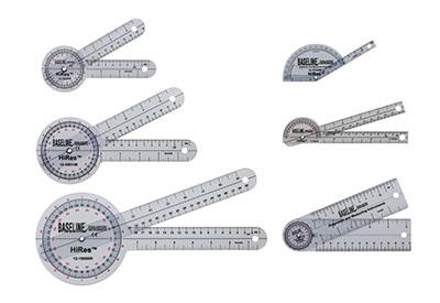 Für die Messung des Bewegungsbereiches (ROM) werden die Baseline® Kunststoff-Goniometer