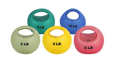 CanDo® One Handle Medicine Balls