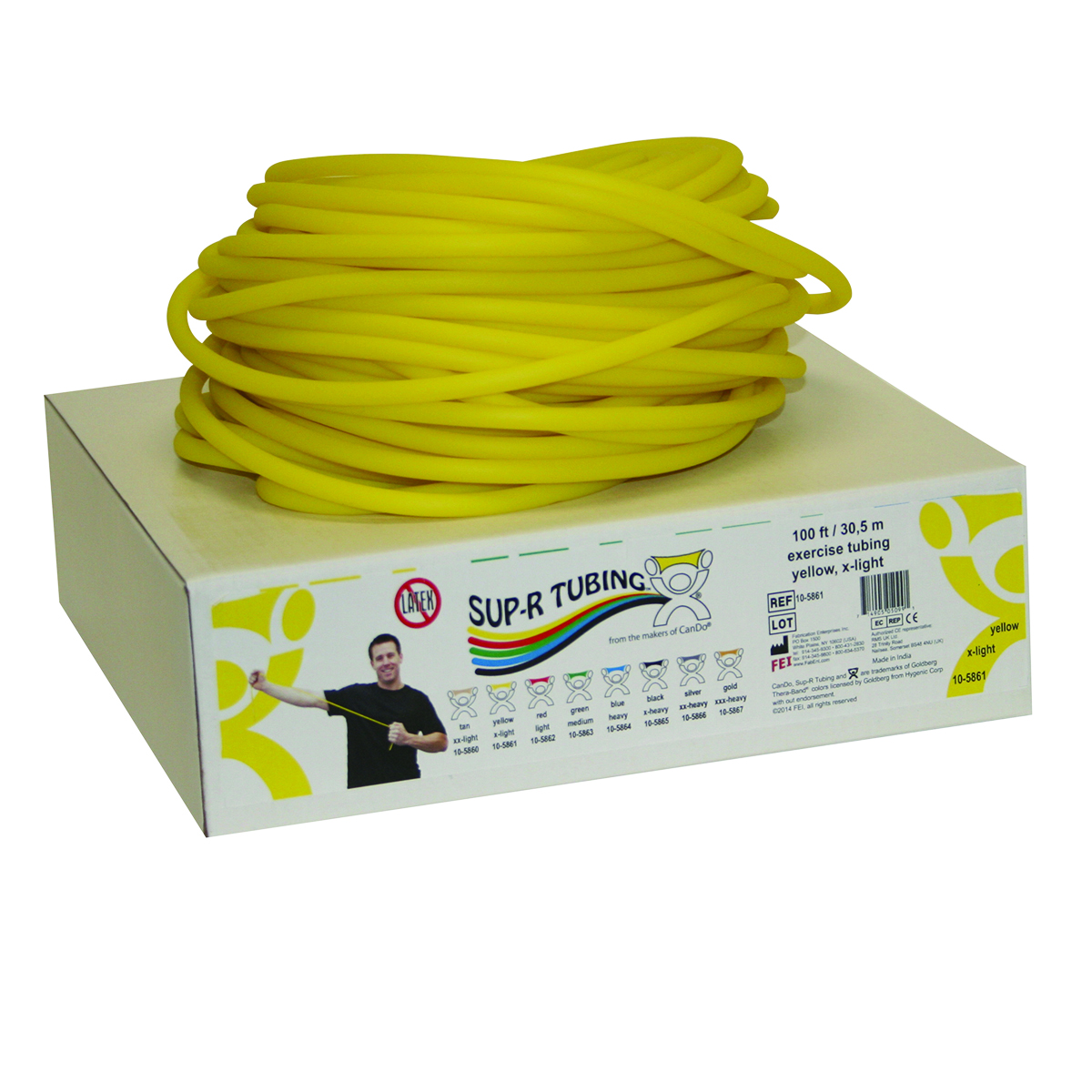 Sup-R Tubing® Latex Free Exercise Tubing Rolls