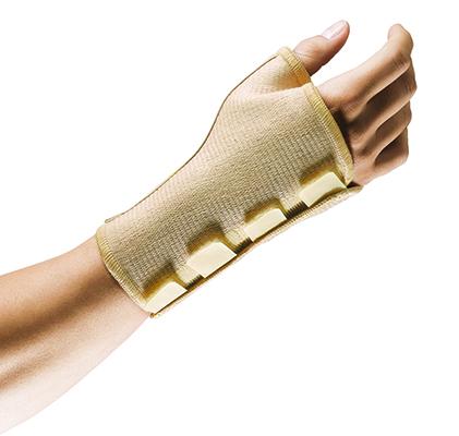 Der Handgelenk und der Daumen