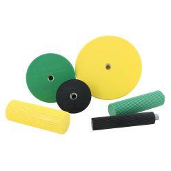 CanDo® Handgelenk-/Vorderarm-Trainer-Set: 3 Semi-Sphären; 3 Griffe
