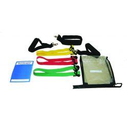 CanDo® Adjustable Exercise Band Kit - 3 Bänder (rot, grün, blau)