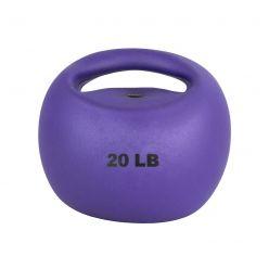 CanDo® Ein Griff Medizinball - 20 lb - Lila