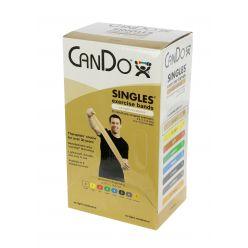 CanDo® Low-Powder-Übungsband - Karton mit 30 Stück, 5' Länge - Tan - xx-light