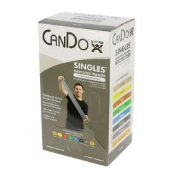 CanDo® Low Powder Exercise Band - 30er-Packung, 5' Länge - Silber - xx-schwer