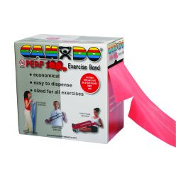 CanDo® Latexfreies Übungsband - 100 Yard Perf 100® Rolle - Rot - leicht