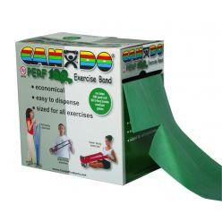 CanDo® Latexfreies Übungsband - 100 Yard Perf 100® Rolle - Grün - mittel