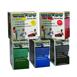 CanDo® Latexfreies Übungsband - 100 Yard Perf 100® Rollen, 5-teiliges Set (je 1 Stück: gelb, rot, grün, blau, schwarz)