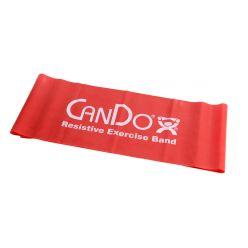 CanDo® Low-Powder-Trainingsband - 5' Länge - Rot - leicht