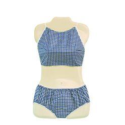 Dipsters® Patientenkleidung, Damen Bibb-Top Bikini, klein - Dutzend