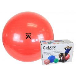 "CanDo® Aufblasbarer Gymnastikball - Rot - 30"" (75 cm), Einzelhandelskarton"