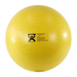 "CanDo® Aufblasbarer Gymnastikball - ABS Extra Dick - Gelb - 18"" (45 cm)"
